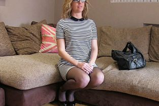Sexy blonde milf takes it from behind in casting