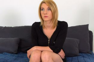 FakeAgent - Softcore blonde photo model tries adult sex casting