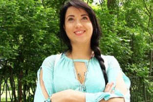 PublicAgent - Sexy black haired russian fucked in the woods