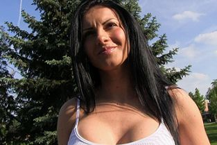 PublicAgent - Sexy romanian in tight shorts fucked in a car