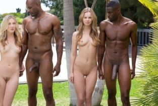Blacked - Interracial Foursome for Two Beautiful Blonde Girls Jillian Janson, Karla Kush