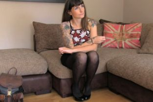 FakeAgent UK - Tattooed brunette returns to show Agent her new anal skills