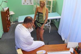 Fake Hospital - Sexy suspicious doctors wife has hot sex with him in his office
