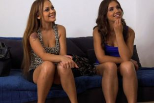 FakeAgent - Two horny friends suck and fuck for a job part 1