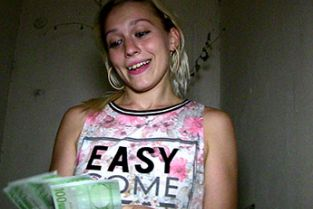 PublicAgent - Sexy young blonde takes his cum in her mouth