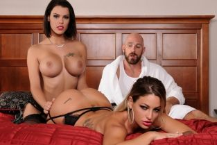 Brazzers Heavenly Bodies Kissa Sins, Peta Jensen & Johnny Sins