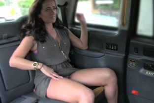 FakeTaxi - Lady in pink underwear gets creampied