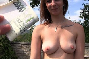 PublicAgent - Brunette having outdoors sex in the bushes