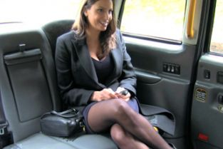 FakeTaxi - Back seat fucking for hot Romanian babe