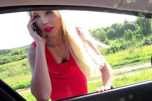 French Blonde in Red Lipstick Video & Kimber Delice - Stranded Teens