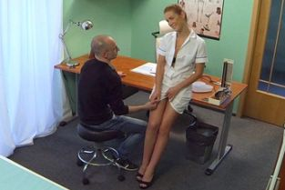 Fake Hospital - Hot nurse seduces and fucks her old college professor