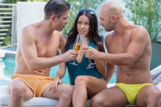 Tushy - Bad GF Gets DP on Vacation Megan Rain, Mick Blue & Christian Clay