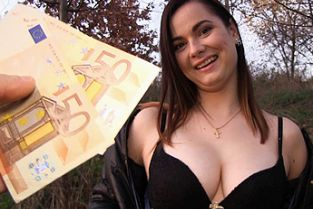 PublicAgent - Big tits babe fucked in forest