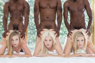 Blacked - Preppy Girl Threesome Get Three BBCs Elsa Jean, Rachel James, Sydney Cole