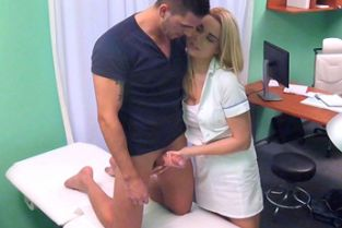 Fake Hospital - Nurse eases pressure in studs balls