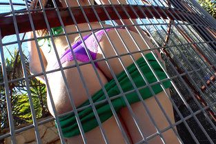 Leggy Brunette in a Cage Video & Aspen Ora - I Know That Girl