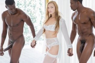 Blacked - Trophy Wife does two BBCs for her husband Layna Landry, Isiah Maxwell & Jason Brown