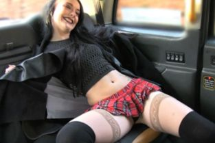 FakeTaxi - Lady in stockings gets creampied