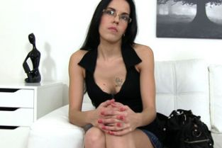 FakeAgent - Petite chick jizzed over in casting