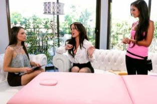 AllGirlMassage - The Campaign Trail Trinity St. Claire, Celeste Star, Angela Sommers