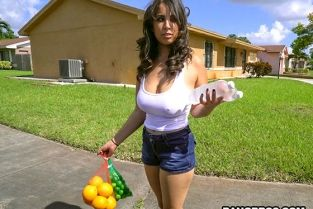 Bangbros - Nina Lopez Slangs oranges and a fat ass Big Tits Round Asses