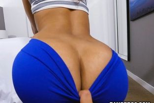 Bangbros - Kitty Catherine Ripping Kitty's Yoga Pants to free that Big Bootie BrownBunnies