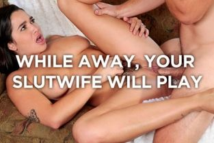 SheWillCheat - Karlee Grey While Away, Your Hairy Teen Hotwife Will Play