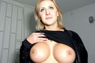 Public Agent - Perfect boobs get covered in jizz