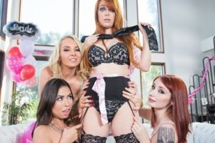 GirlsWay - Strap-On Stories: Gangbang Bachelorette Penny Pax, Violet Monroe, Melissa Moore, Aaliyah Love