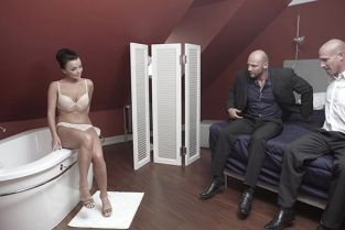 BangGlamkore - Daphne Klyde An Intense Threesome That Ends With Her Swallowing Cum
