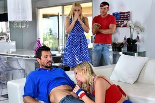 FamilyStrokes - Sarah Vandella, Zoey Parker I Pledge Allegiance To My Father Figures Cock