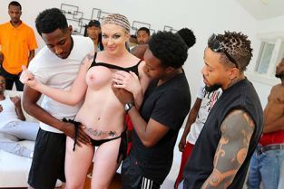 InterracialBlowbang - Leya Falcon