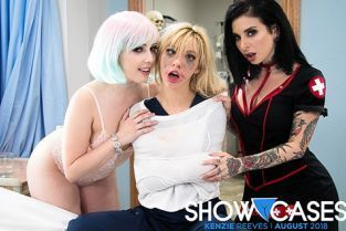 GirlsWay - Jenna Sativa, Kenzie Reeves, Joanna Angel 2 Scenes In 1