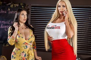 Angela White, Nicolette Shea Caught Talking Dirty BrazzersExxtra