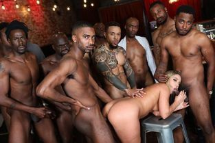 InterracialBlowbang - Candice Dare