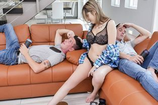 FamilyStrokes - Sarah Bella Double The Cum Double The Fun