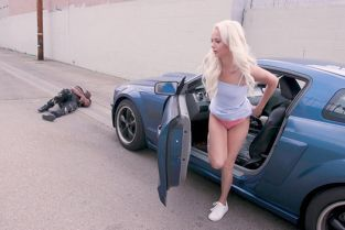 BangTrickery - Elsa Jean Hit A Pedestrian And He Fucks Her In Return!