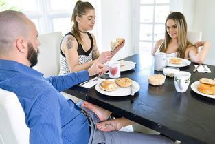 FamilyStrokes - Athena Faris Some Under The Table Footplay