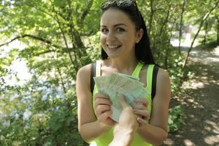 PublicAgent - Kittina Clairette Bright young babe creampied outside