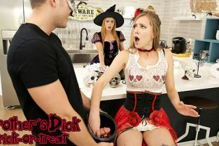 MomsTeachSex - Haley Reed, Penny Pax Brothers Dick Trick Or Treat