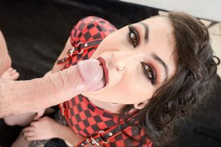 Spizoo - Lydia Black Young Brunette Blowjob And Anal POV
