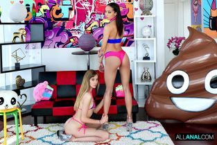 AllAnal - Alexis Tae, Haley Reed Sharing Is Caring