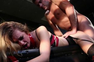 DeviantHardcore - Lyra Law Sexy young blonde Lyra Louvel gets bound and fully dominated