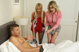 MomsTeachSex - Cory Chase, Tallie Lorain Mom His Dick Is Stuck In A Vacuum Cleaner
