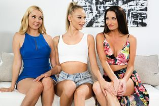 GirlsWay - Emma Hix, Silvia Saige, Aaliyah Love Tempted By The Babysitter