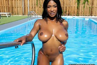 BangBros - Sarai Minx Sexy Ebony Fucks by The Pool BrownBunnies