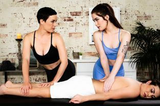 AllGirlMassage - Olive Glass, Veronica Valentine, Evelyn Claire 2-For-1 Special