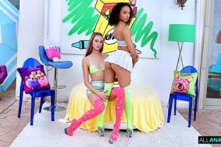 AllAnal - Alexis Tae, Haley Reed Round 2 with Haley and Alexis