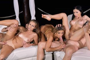 HandsOnHardcore - Sasha Rose, Kinuski, Shalina Devine Vixens On Vacation – Part 2