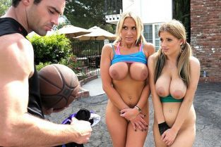 Charles Dera, Haley Cummings, Alanah Rae Air Juggs [Best of Brazzers]